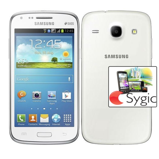 Samsung Galaxy Core Duos - i8262, White + Sygic GPS navig�cia na do�ivotie