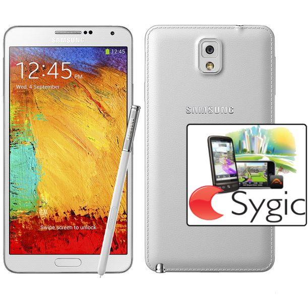Samsung Galaxy Note 3 - N9005, 32GB, White + Sygic GPS navig�cia na do�ivotie