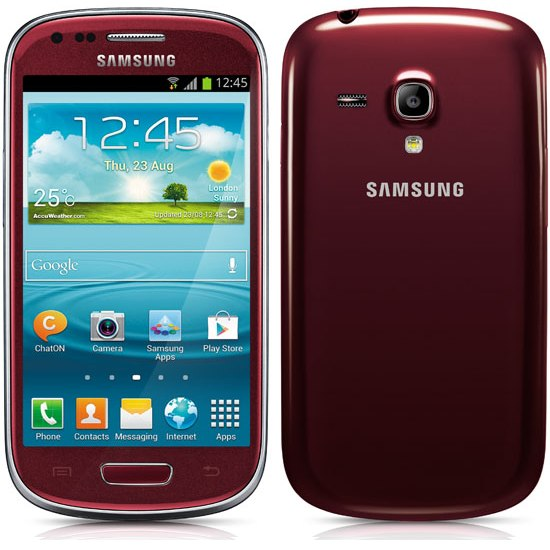 Samsung Galaxy S3 Mini - i8190, Garnet Red