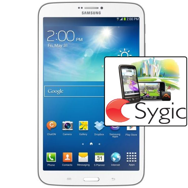 Samsung GALAXY Tab 3 8.0 - T310, 16GB, White + Sygic GPS navig�cia na do�ivotie