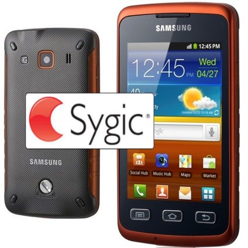 Samsung Galaxy Xcover - S5690, Black Orange + naviga�n� software Sygic na do�ivotie