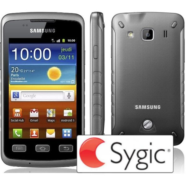 Samsung Galaxy Xcover - S5690, Titan Gray + naviga�n� software Sygic na do�ivotie