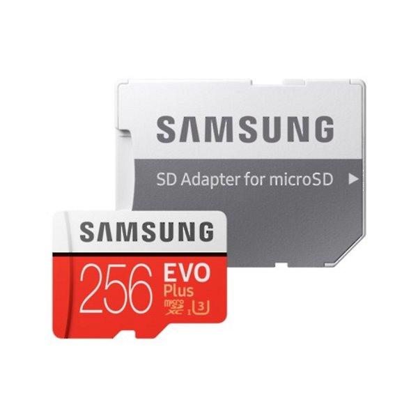 Samsung Micro SDXC EVO Plus 256GB (2020) + SD adaptér, UHS-I U3, Class 10 - rýchlosť 100/90 MB/s (MB-MC256HA/EU)