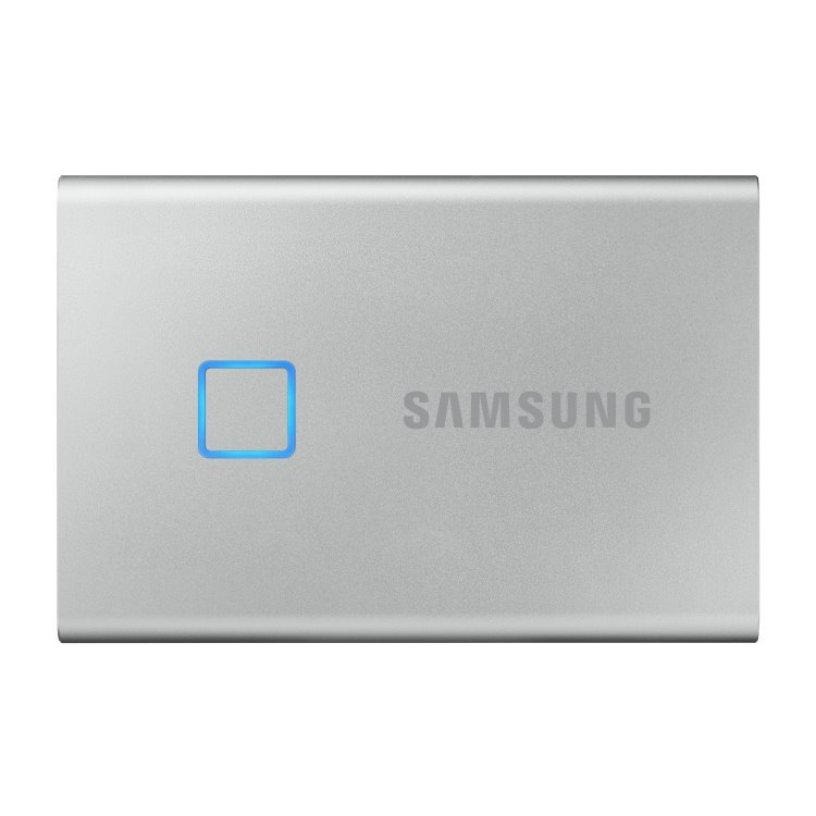 Samsung SSD T7 Touch, 2TB, USB 3.2 - rýchlosť 1050/1000 MB/s (MU-PC2T0S/WW), Silver