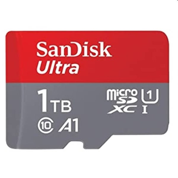 SanDisk Micro SDXC Ultra 1TB + SD adaptér, Class 10 - rýchlosť 120 MB/s (SDSQUA4-1T00-GN6MA)
