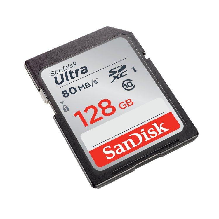 SanDisk Ultra Secure Digital SDXC UHS-I 128GB | Class 10, r�chlos� a� 80MB/s (SDSDUNC-128G-GN6IN)