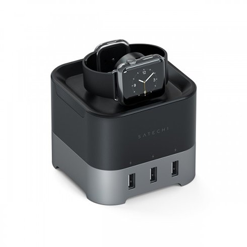 Satechi USB-C Slim Multiport adaptér with Ethernet - Black Aluminium