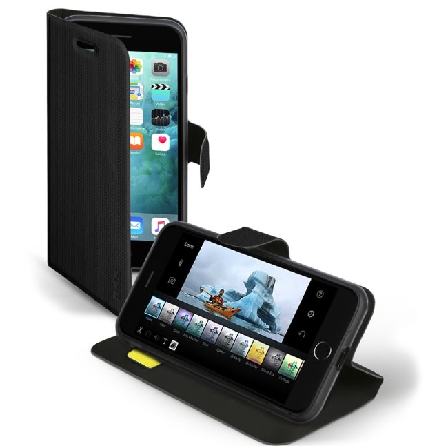 SBS Elegance Book Case for iPhone 8 Plus/7 Plus/6S Plus/6 Plus, black TEBOOKSENSEIP7PK
