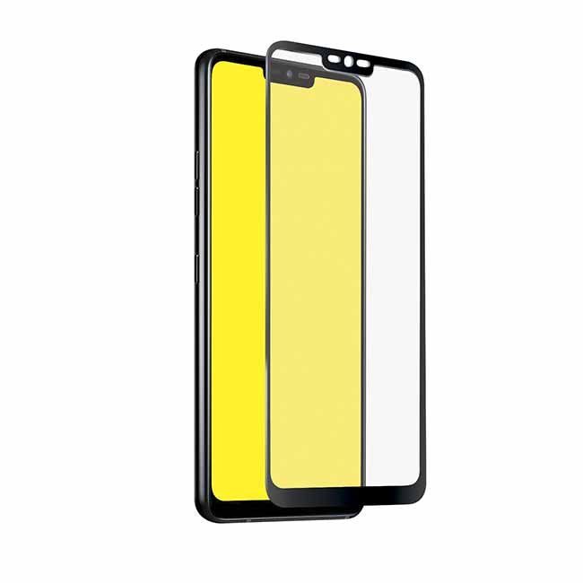 SBS Full Cover Glass Screen Protector for LG G7 ThinQ, black