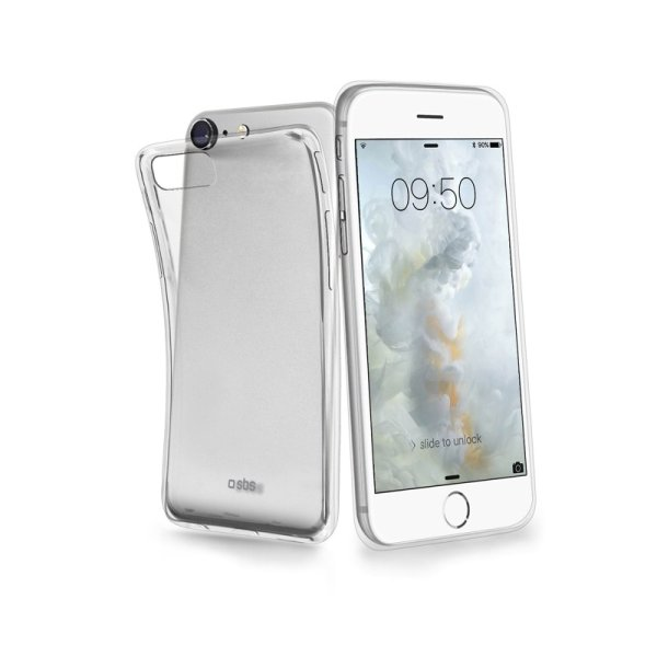 Puzdro SBS Cover Aero pre iPhone SE/8/7/6S/6, transparent