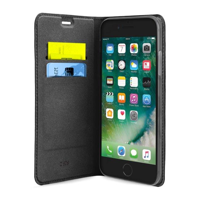 SBS puzdro Book Wallet Lite pre iPhone SE/8/7/6S/6, čierne