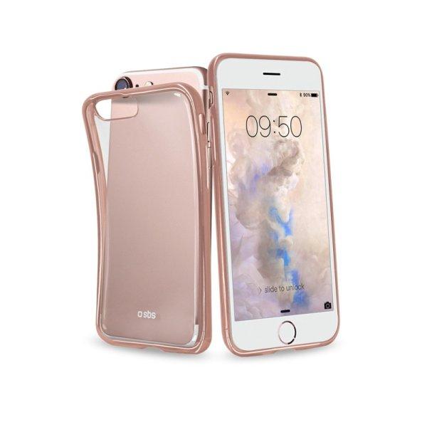 Puzdro SBS Extraslim pre Apple iPhone 6/ 6S/ 7/ 8, zlatá ružová (Gold Collection) TECOVERSLIMIP7P