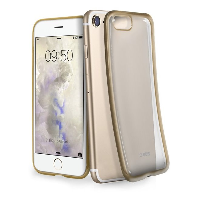 Puzdro SBS Extraslim pre iPhone 6/ 6S/ 7/ 8, zlaté (Gold Collection) TECOVERSLIMIP7G