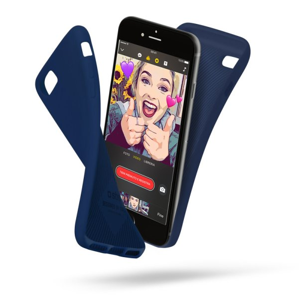 Puzdro SBS Polo pre Apple iPhone 6, 6S, 7 a 8, modré TEPOLOIP7B