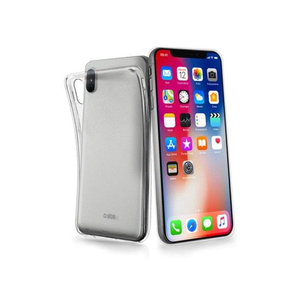 Puzdro SBS Skinny pre Apple iPhone X, transparentná