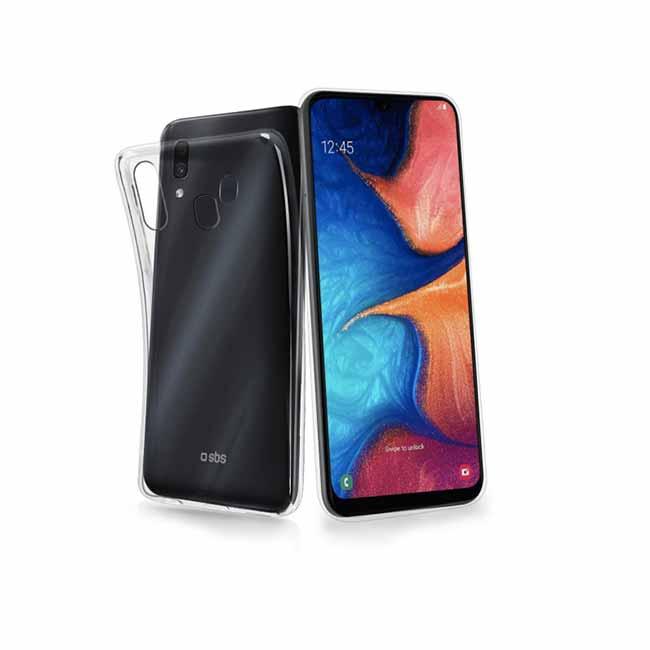 Puzdro SBS Skinny pre Samsung Galaxy A20e - A202F, transparentná