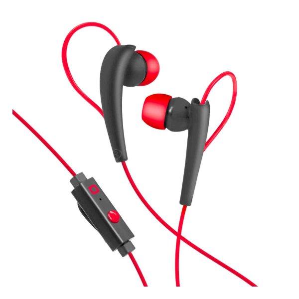 SBS športové slúchatka do uší s mikrofónom, červené TESPORTINEARRL