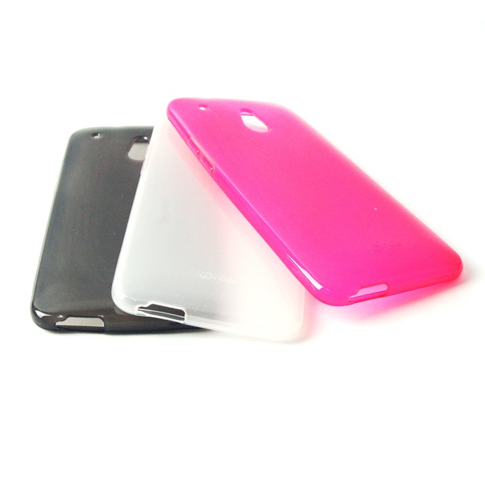 Set silik�nov�ch puzdier pre HTC One Mini - 3 kusy - Black, White, Pink
