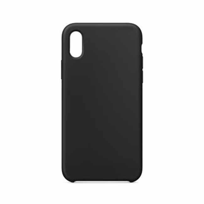 Silikónové púzdro Swissten Liquid pre Apple iPhone Xs, čierne