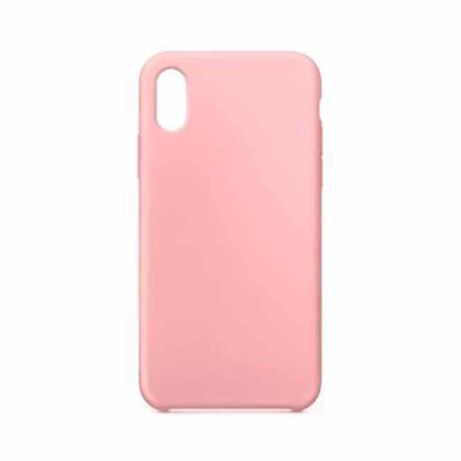 Silikónové púzdro Swissten Liquid pre Apple iPhone Xs, ružové