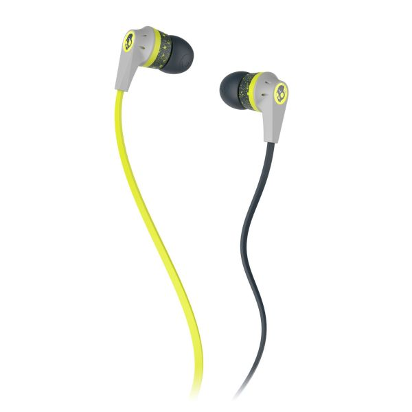 Skullcandy Ink�d 2, dark grey/light grey/hot lime