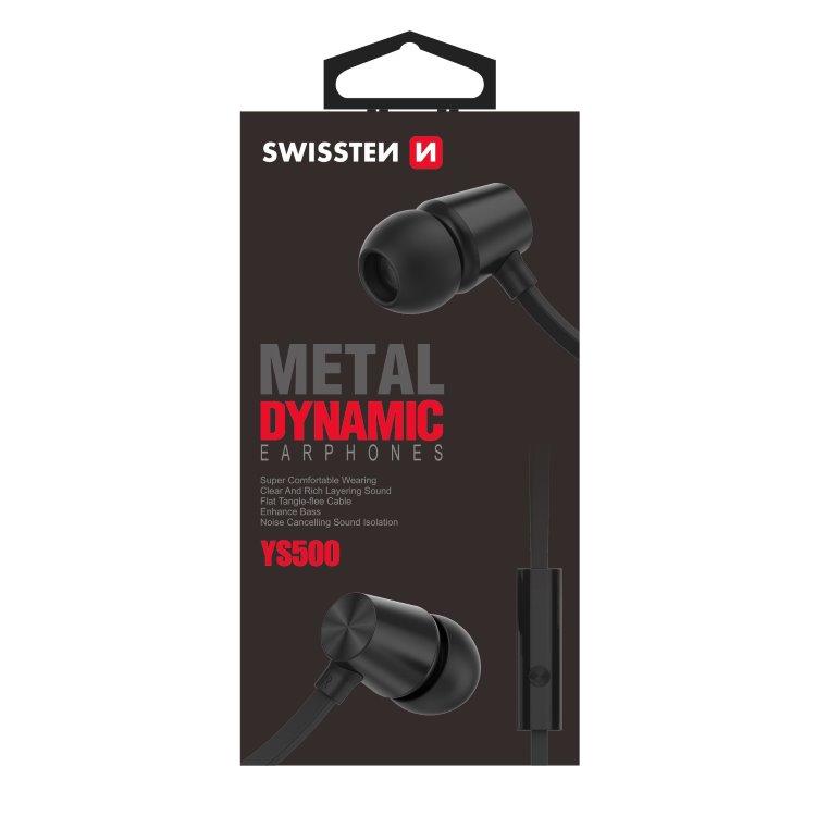 Slúchadlá Swissten Dynamic YS500, čierne