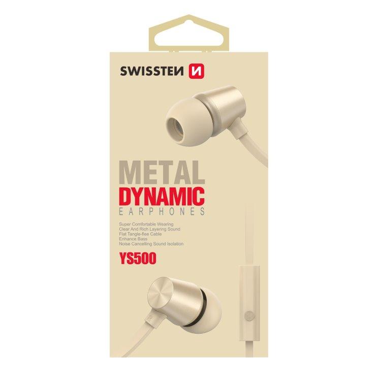 Slúchadlá Swissten Dynamic YS500, zlaté