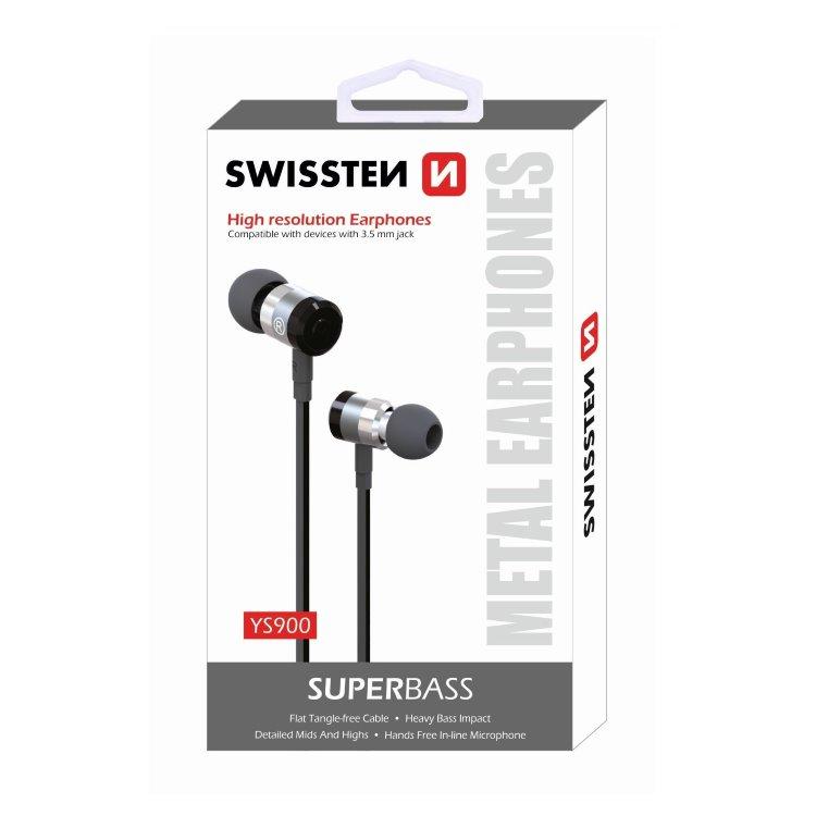 Slúchadlá Swissten SuperBass YS900, čierne