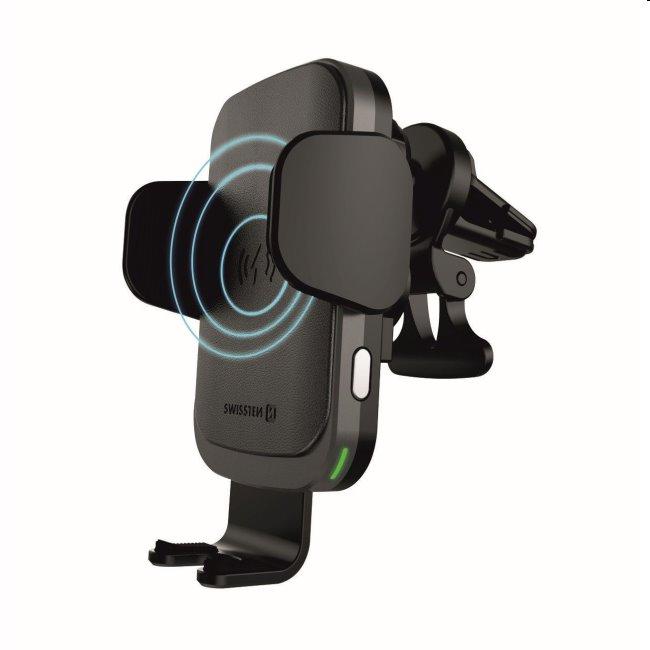 Smart držiak do ventilácie auta s bezdrôtovým nabíjaním 15W Swissten S-Grip W2-AV5