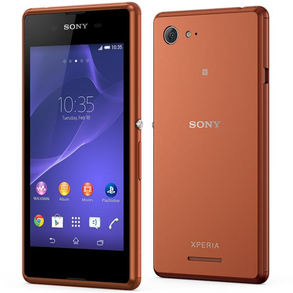 Sony Xperia E3 - D2203, Copper - SK distrib�cia + Sygic GPS navig�cia na do�ivotie