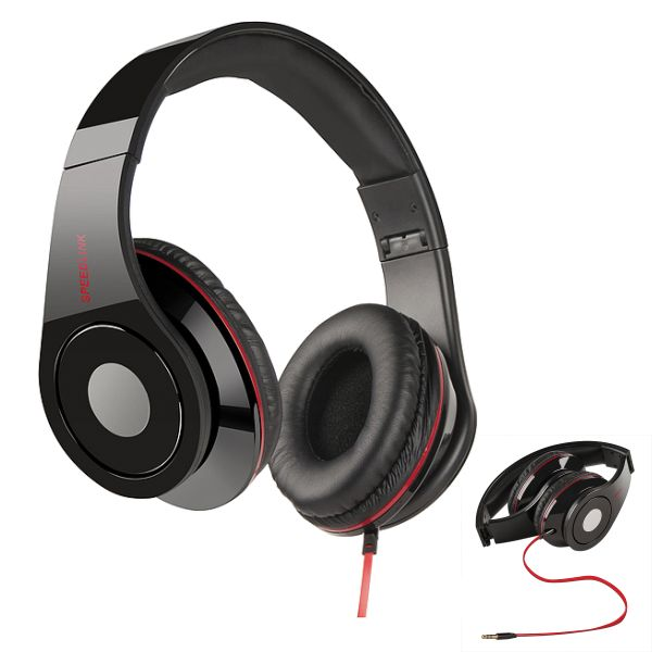Speed-Link Crossfire Design Headphones, black