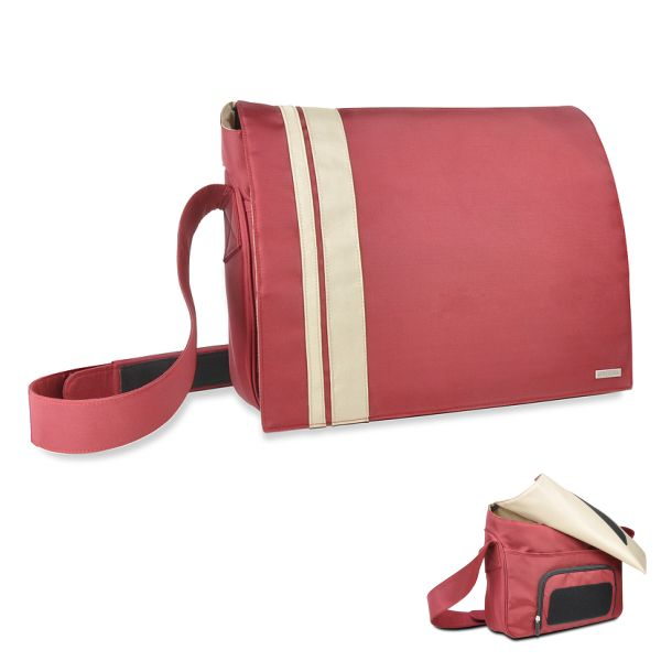 Speedlink Courier Messenger Bag 16,4'' / 41,6 cm, red-biege