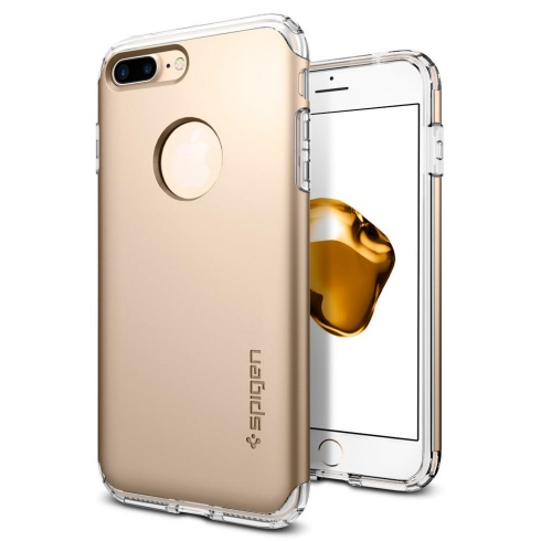 Puzdro Spigen Hybrid Armor pre iPhone 7 Plus a iPhone 8 Plus, Champagne Gold