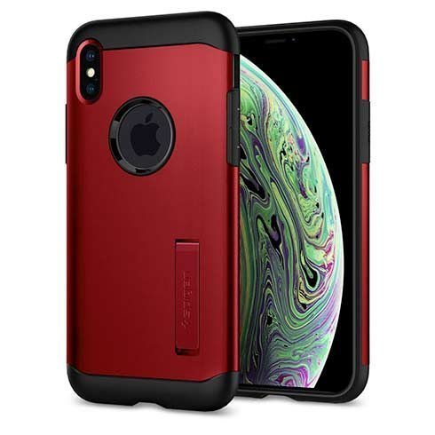 Púzdro Spigen Slim Armor iPhone XS Max - Merlot Red