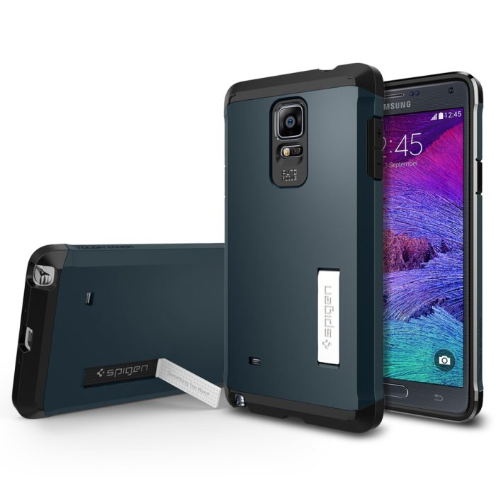 Spigen Tough Armor pre Samsung Galaxy Note 4 - N910F, Metal Slate