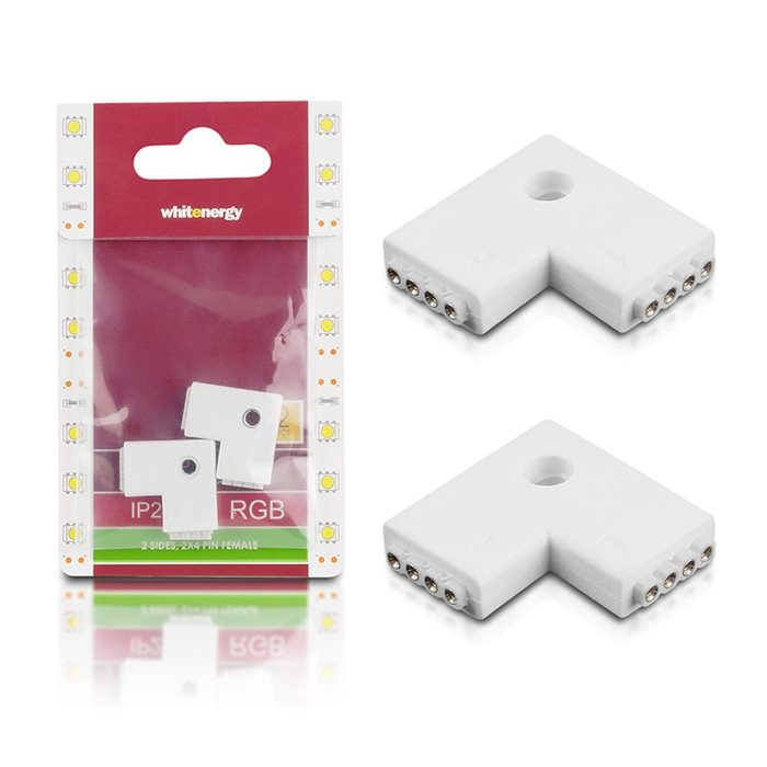 Spojka WhiteEnergy RGB LED pasu L 2x4PIN F - 2ks