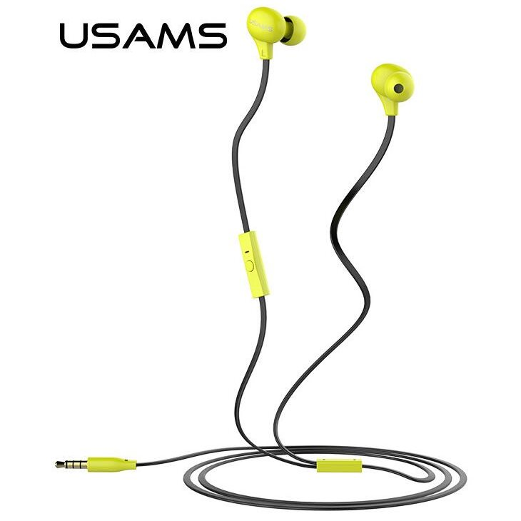 Stereo Headset USAMS Ewave s 3.5 mm jack konektorom, Black