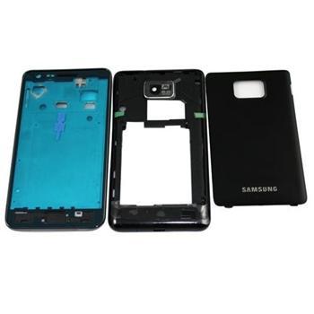 Stredný náhradný kryt pre Samsung Galaxy S2 i9100 a S2 Plus i9105, Black