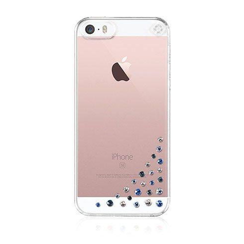 Swarovski kryt Diffusion pre iPhone SE/5s/5 - Blue Mix SE-DF-CL-BM