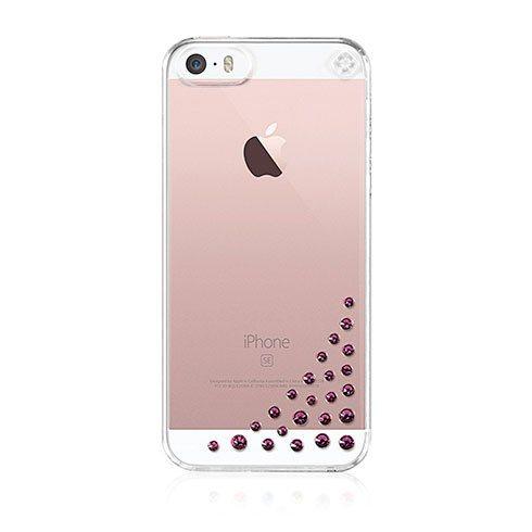 Swarovski kryt Diffusion pre iPhone SE/5s/5 - Fuchsia SE-DF-CL-FS