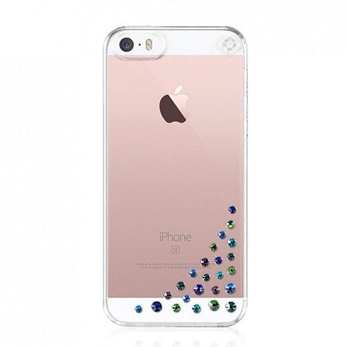 Swarovski kryt Diffusion pre iPhone SE/5s/5 - Peacock Mix se-df-cl-pck