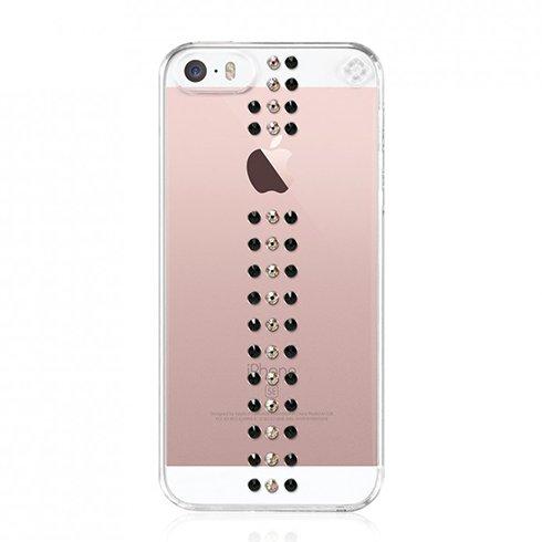 Swarovski kryt Stripe pre iPhone SE/5s/5 - Crystal Stripe Golden se-st-cl-gdn