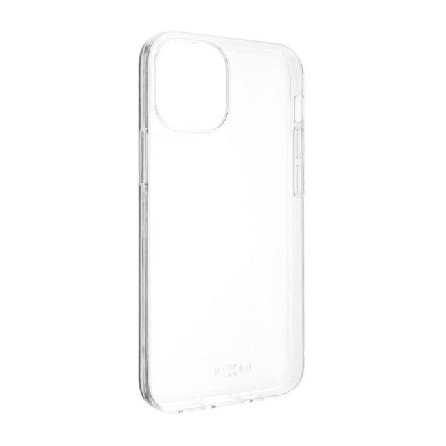 TPU gélové puzdro Fixed pre Apple iPhone 12 Mini, transparentné FIXTCC-557