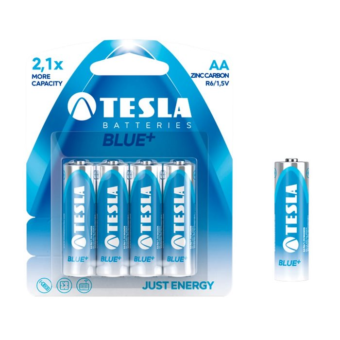 Tužková batéria AA(R06), TESLA Blue+, 4 kusy
