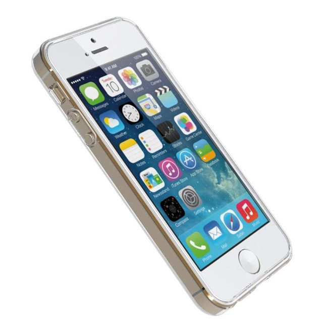 Ultra tenké puzdro pre Apple iPhone 5, 5S a SE, Transparent