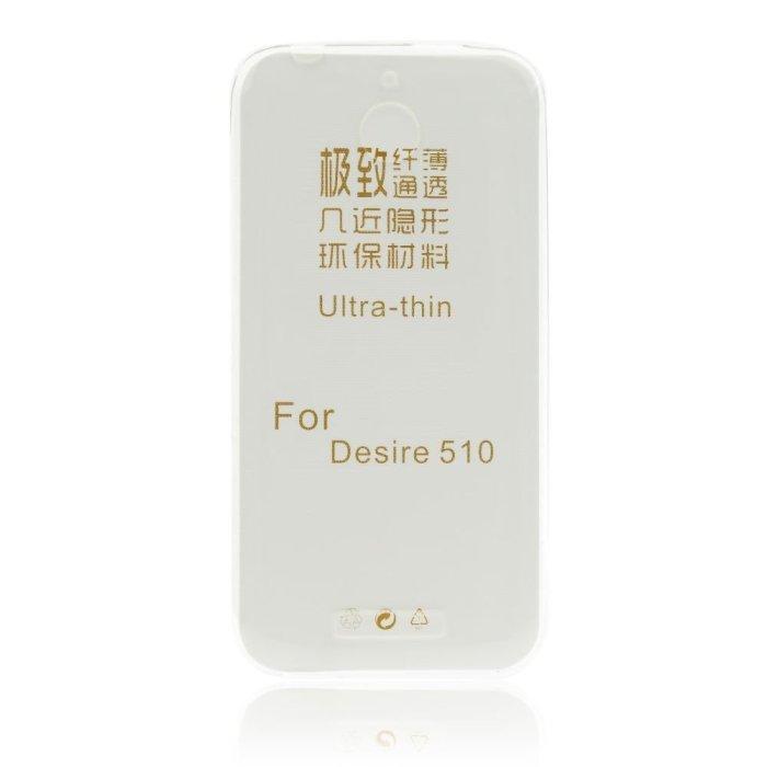 Ultra tenké puzdro pre HTC Desire 510, Transparent