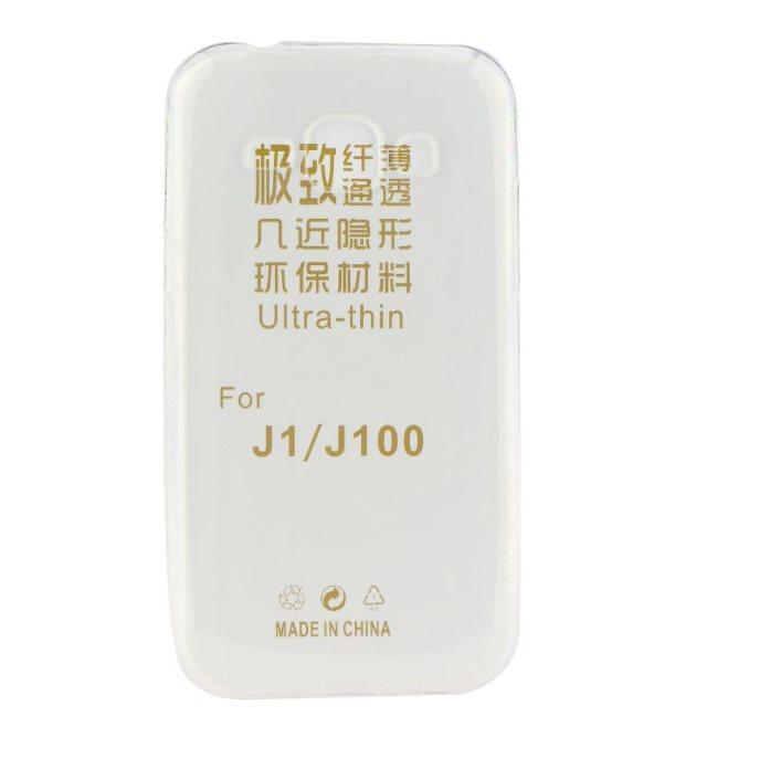 Ultra tenké puzdro pre Samsung Galaxy J1 Ace - J110F, J1 Ace - J111F, Transparent