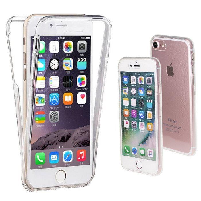Ultratenké silikonové puzdro na celé telo pre Apple iPhone 6 a 6S, Transparent