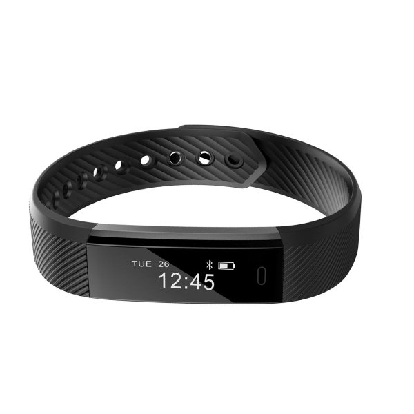 UMAX U-Band 115, fitness náramok, Black + Blue strip