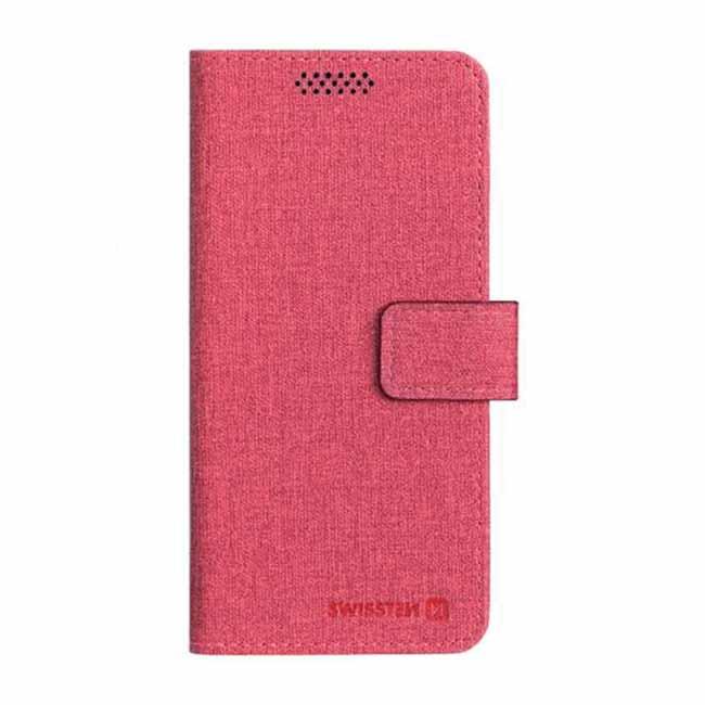 Univerzálne knižkové púzdro Swissten Libro, veľkosť XXL, červené